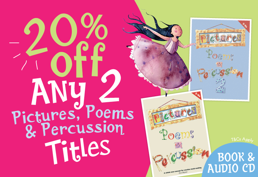 Pictures, Poems & Percussion Offer