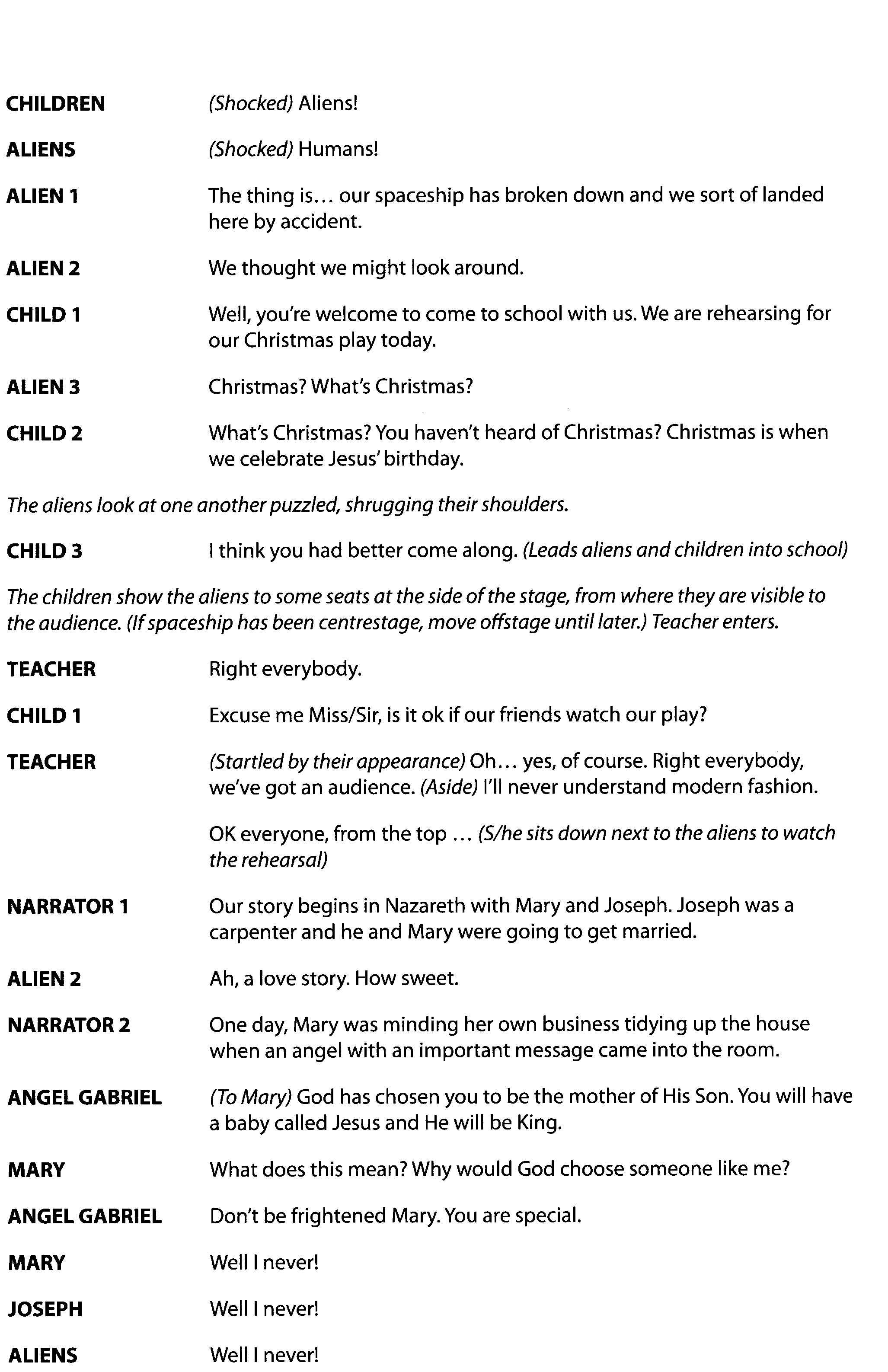 view sample script 1 view sample script 2 - Christmas Plays For Small Churches