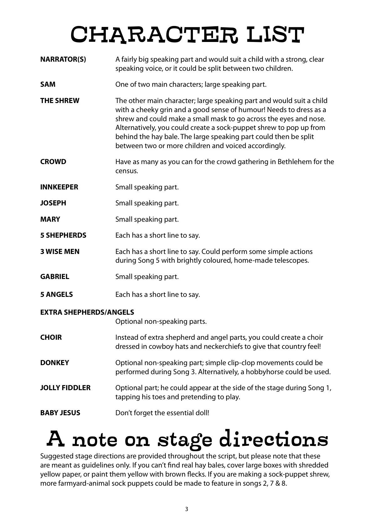 Nativity Christmas Play Script