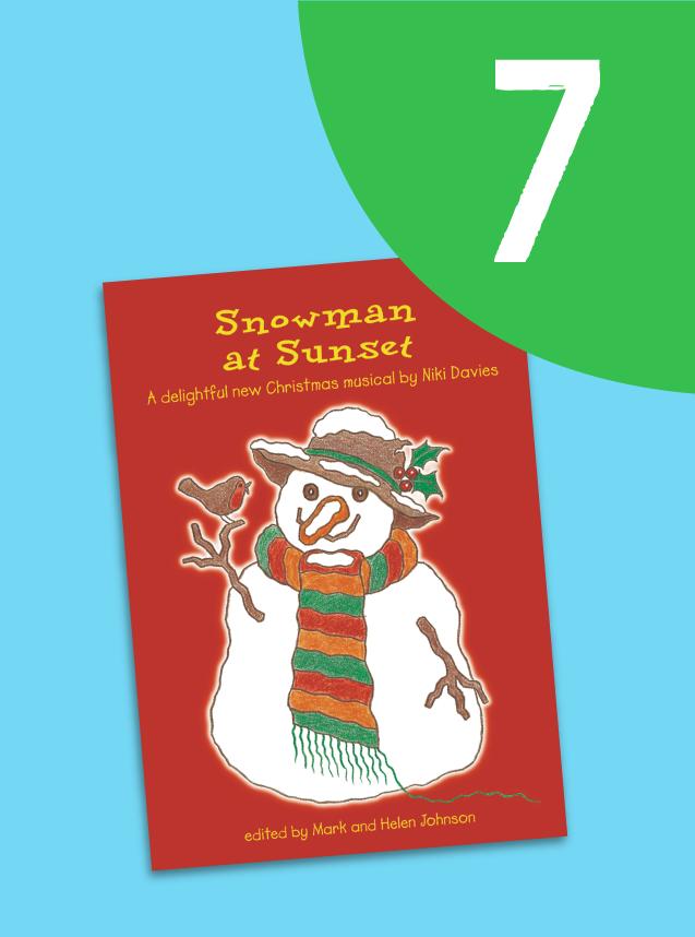 7. Snowman At Sunset